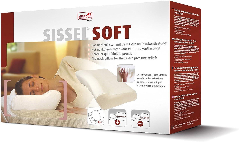 SISSEL Soft Nackenkissen m. Bezug 47x33x14cm, Kopfkissen