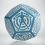 Q Workshop D12 Hit Location Blue & White Die