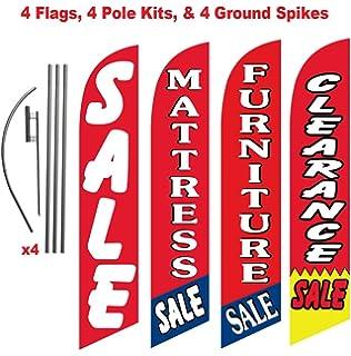 Amazon.com: Mattress Store and Outlet Paquete de 3 señales ...