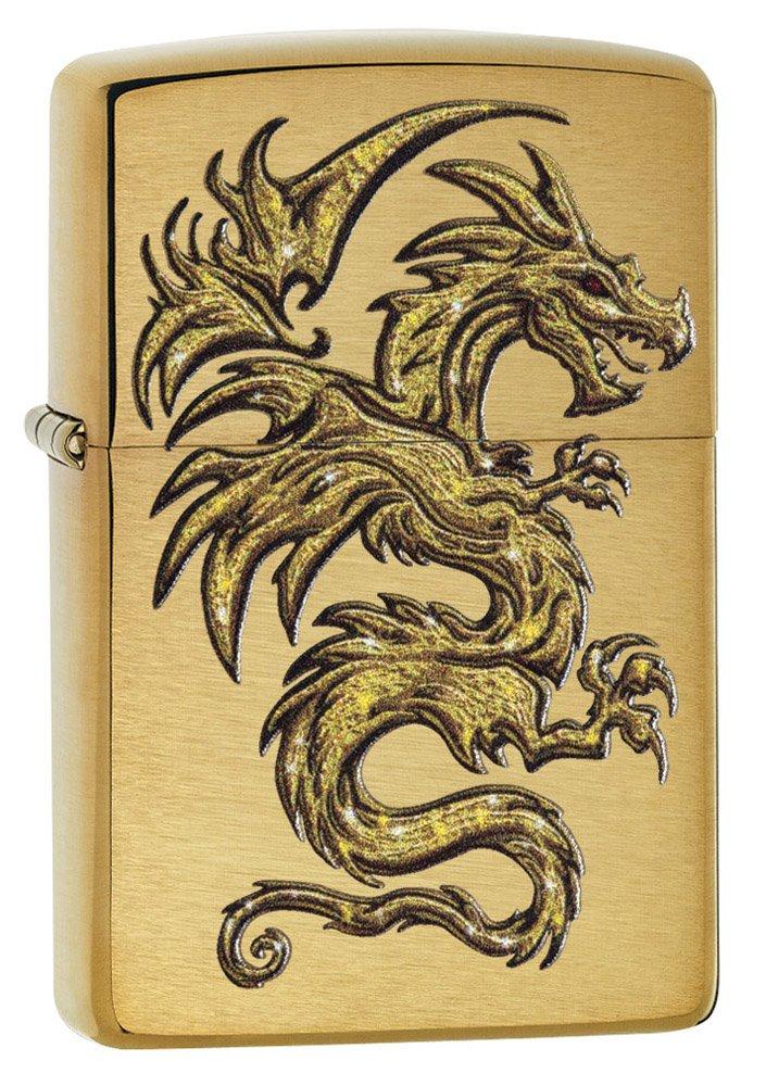 Zippo 29725 Dragon Design Brushed Brass Lighter