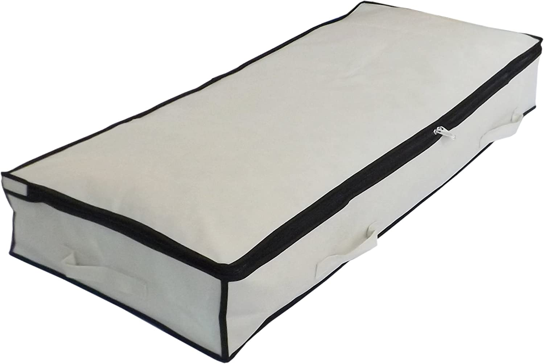 Neusu Strong Slimline Underbed Storage Bag, Beige, Medium 70 Liters, 41
