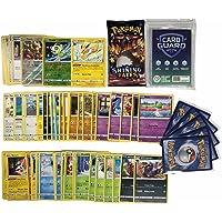 Pok Pokémon 50 Pokémon kaarten zonder dubbele kaarten + 1 willekeurige Pokémon Booster + 2 glanzende cadeaukaarten + 1…
