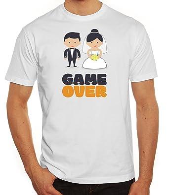 Junggesellenabschieds JGA Hochzeit Herren T-Shirt Married Couple Game Over,  Größe: S,