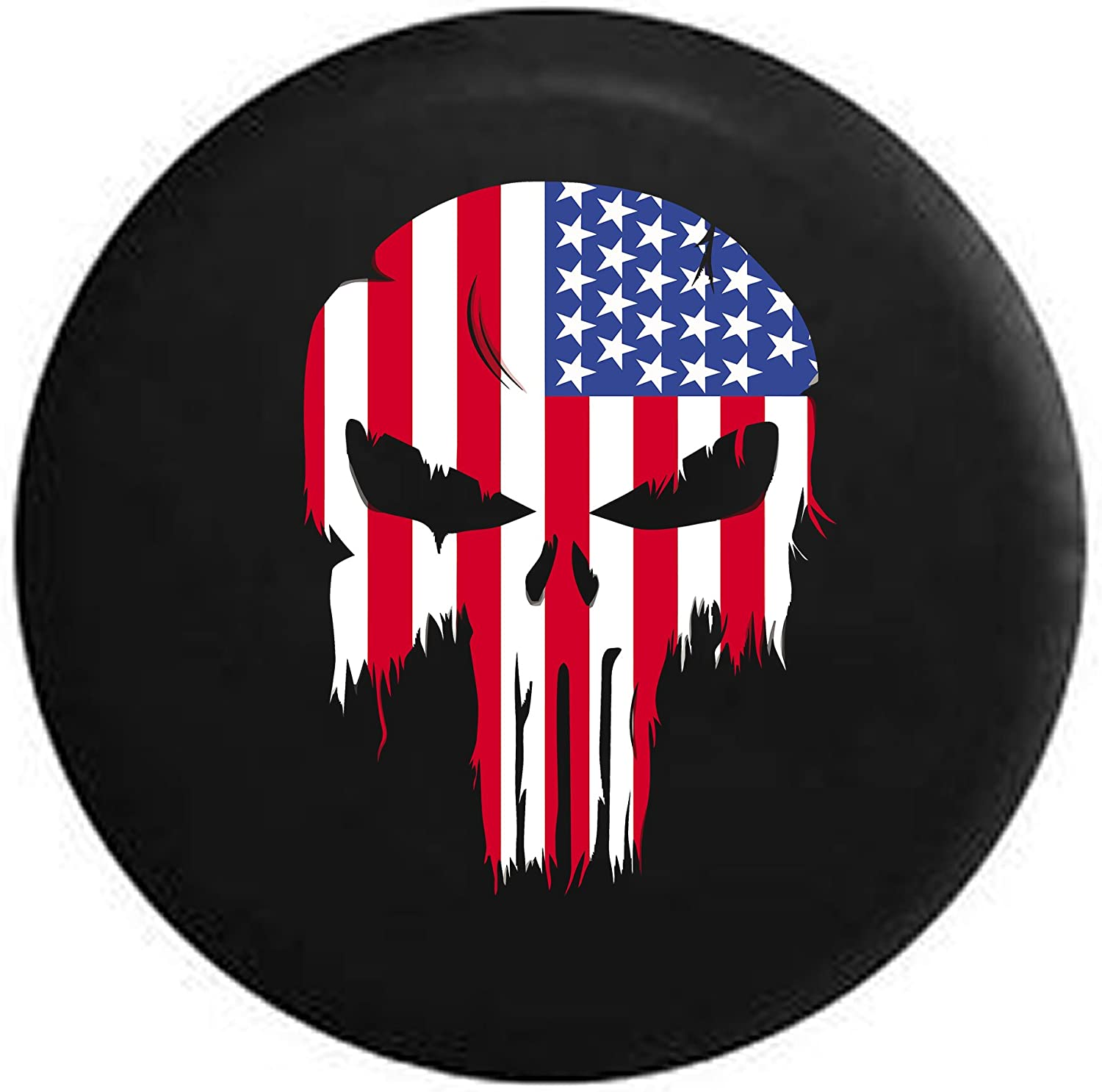 Spare Tire Cover Punisher Skull  Fits Jeep Wrangler or RV