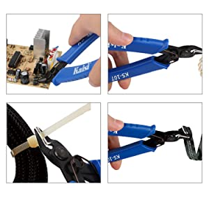 Kaisi KS-107 Flush Cutter Internal Spring Precision Micro Shear Flush Cutters Wire Cutting Pliers Side Cutters Pliers 5-Inch, Blue