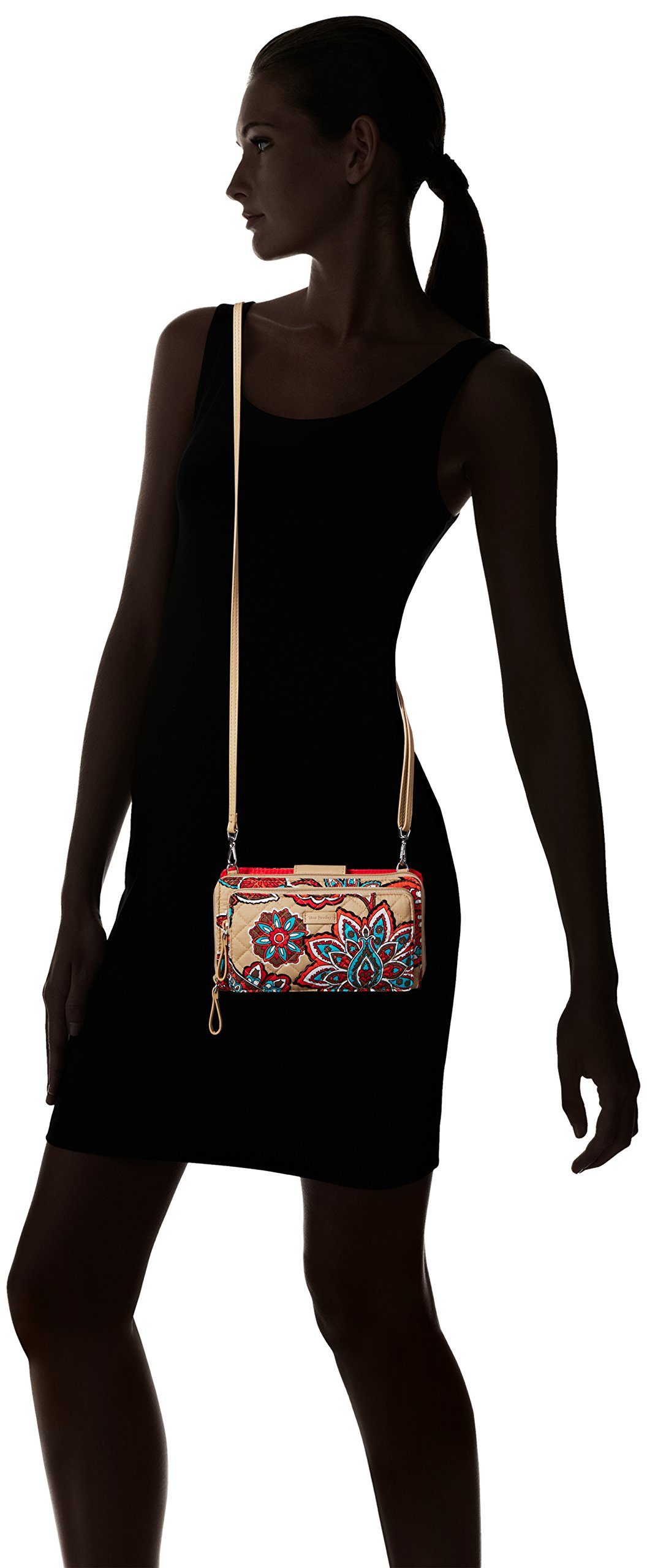 Vera Bradley Iconic Deluxe All Together Crossbody, Signature Cotton, Desert Floral by Vera Bradley (Image #6)