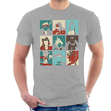 Amazon Com Final Fantasy 7 Pop Art Men S T Shirt Clothing