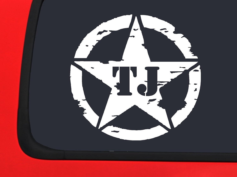 Lifestyle Graphix OSCAR MIKE TJ JEEP X 2 military star window decal sticker Wrangler Off Road