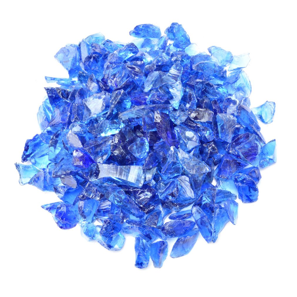 B06VT2THT3 Mr. Fireglass Recycled Fire Glass for Natural or Propane Fire Pit Fireplace Gas Log Sets, 10 Pounds, Cobalt Blue 71RfPm5aaKL