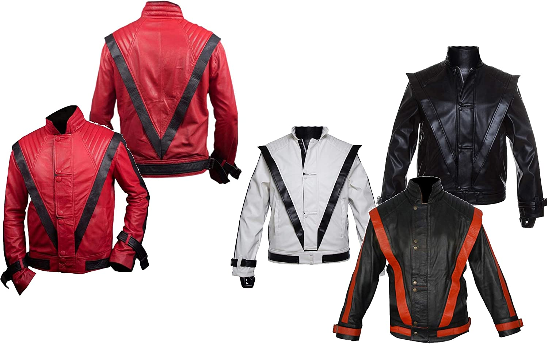 Dunhill Leather Chaqueta roja de Cuero de Piel de Oveja Michael Jackson MJ Thriller NJ