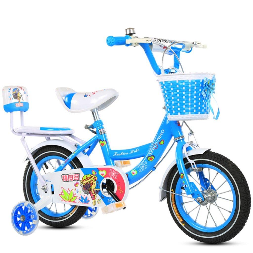 XQ TT-33子供の赤ちゃんのキャリッジ学生の車青の子供の自転車6-12歳 12/14/16/18インチ 子ども用自転車 ( サイズ さいず : 14-inch ) B07CKVRPMS14-inch