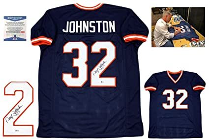 572e703fd Signed Daryl Johnston Jersey - Moose Beckett Syracuse - Beckett  Authentication - Autographed NFL Jerseys