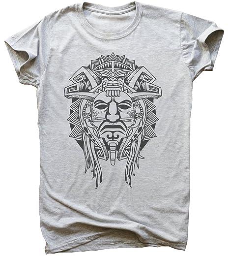 4631731d8 Amazon.com: Aztec Tribal Face Tattoo Men's T-Shirt: Clothing