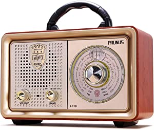 Retro Portable Radio AM FM Shortwave Radio Transistor Battery Operated Vintage Radio with Bluetooth Speaker, 3-Way Power Sources, Enhanced Bass, AUX TF Card USB Disk MP3 Player[2021 Upgraded Version]