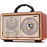 Retro Portable Radio AM FM Shortwave Radio Transistor Battery Operated Vintage Radio with Bluetooth Speaker, 3-Way Power Sour