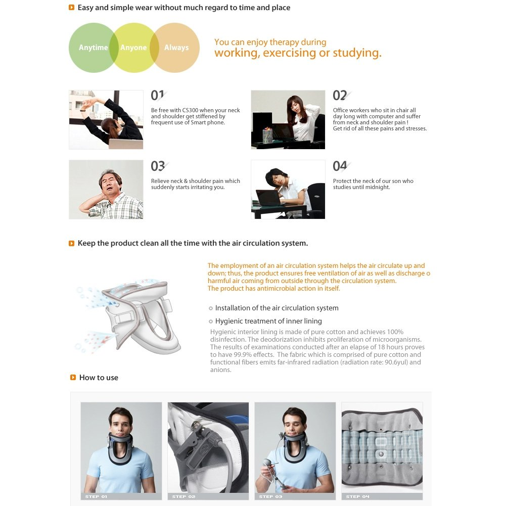 Amazon.com: Disk Dr Cs300 Neck Pain Treatment Device Cervical Vertebrae Support Traction Belt: Sports & Outdoors