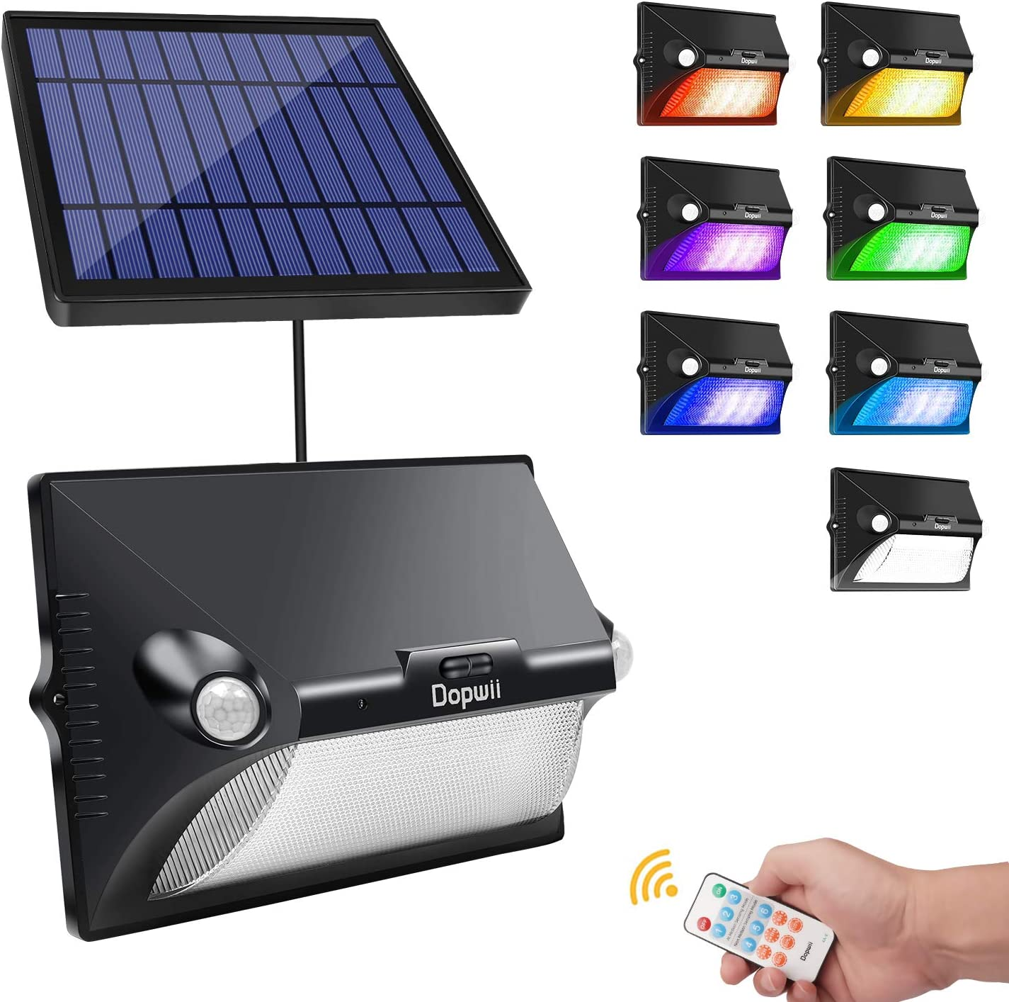 Solar Light Solar Porch Light LED Lamp Outdoor Colorful Waterproof Dual Motions