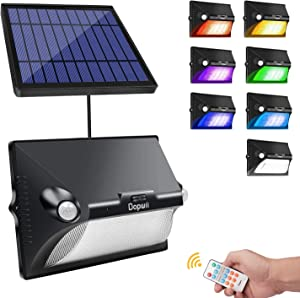 Solar Lights Outdoor Flood Light -Color Changing,Solar Motion Sensor,180° Wide Angle, IP65 Waterproof, Easy-to-Install Security Lights for Garden Landscape Party Stage Lights