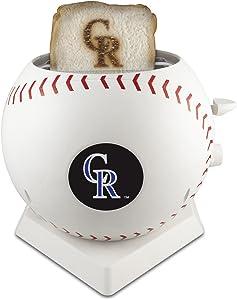MLB Colorado Rockies Pangea Brands ProToast MVP Toaster, White