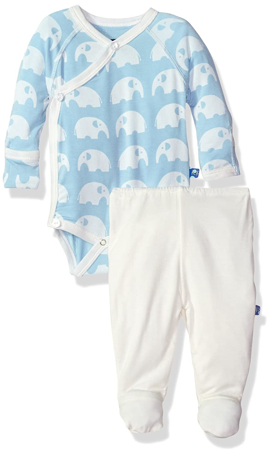 KicKee Pants Baby Boys Essentials Kimono Newborn Gift Set with Box