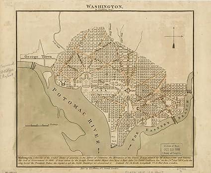 Map Of Us Washington Dc.Amazon Com Vintage 1815 Map Of Washington United States Washington