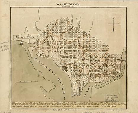 Amazon.com: Vintage 1815 Map of Washington United States, Washington ...