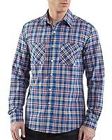Carhartt S247 Long-Sleeve Lightweight Plaid Shirt True Blue XX-Large Tall