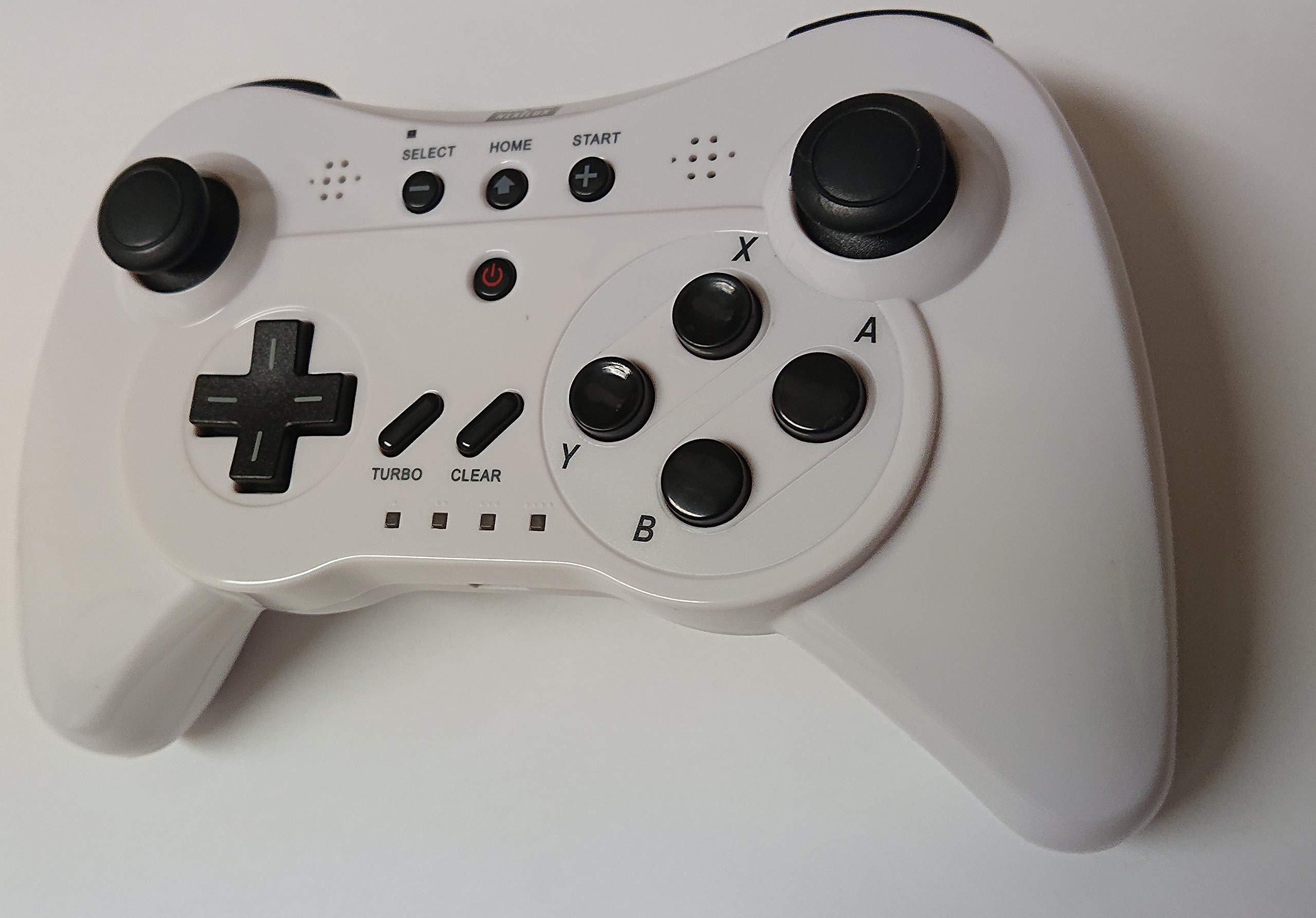 NEXiLUX NXL-WU001 Wireless 3-in-1 Classic Pro Controller Gamepad for Nintendo Wii U, White