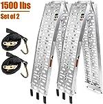 TOOCA Aluminum Ramps 2 Pcs 7.5' Folding Loading Ramps | 1500lbs