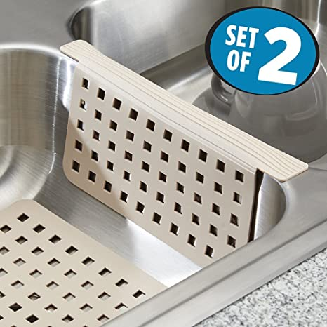 mDesign Set da 2 Tappetini per lavello cucina - Due accessori cucina ...