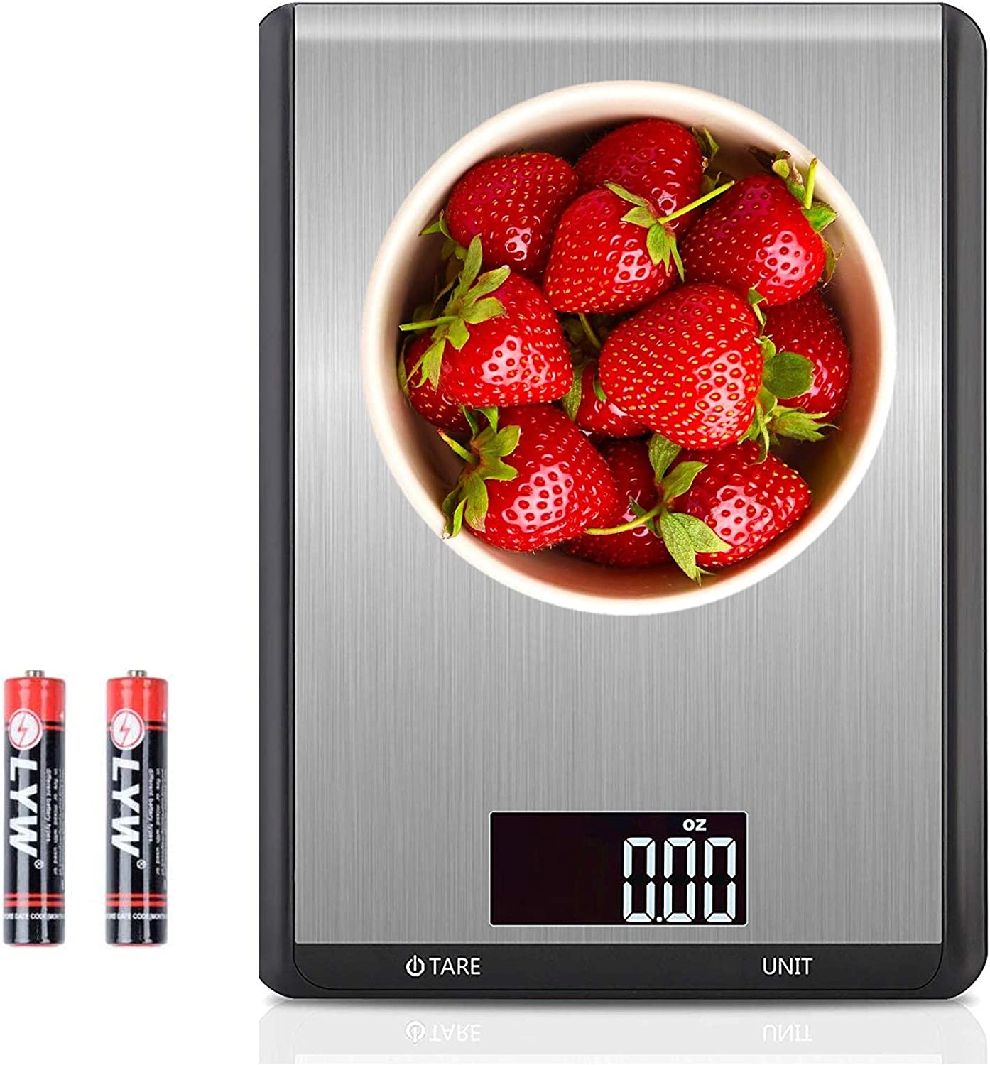 ANGOO Food Scales Digital Weight grams and oz, MAX 10 kg Digital Kitchen Scale, Cooking Scale, Baking Scale, Meat Scale