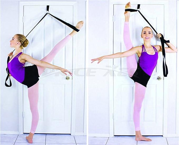 PlumBand - Sangle d'étirement de ballet pour la danse et la gym - Plusieurs tailles - Manuel d'instructions et sac de voyage inclus (version anglaise) (Violet, Standard)