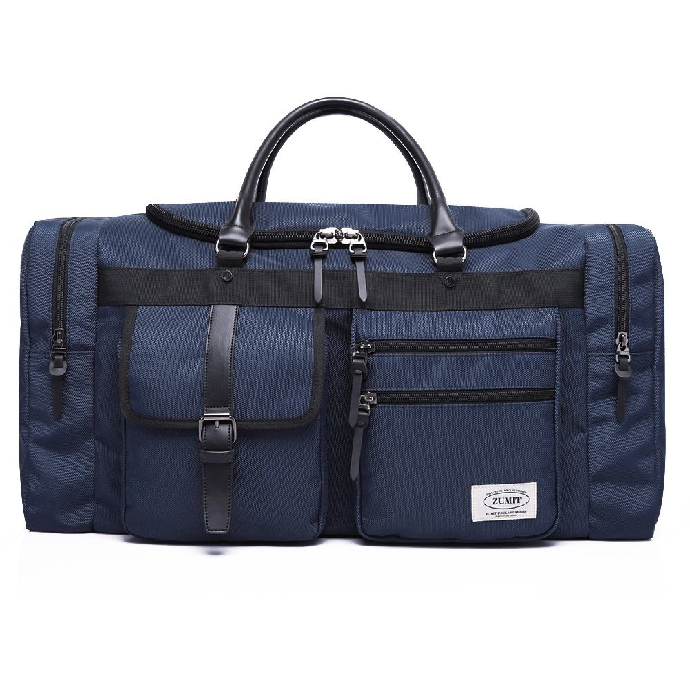 ZUMIT Travel Duffel Bag Business Weekend Tote Gym Sports Foldable Canvas Water-resistant Luggage Bag 45L 60L #806