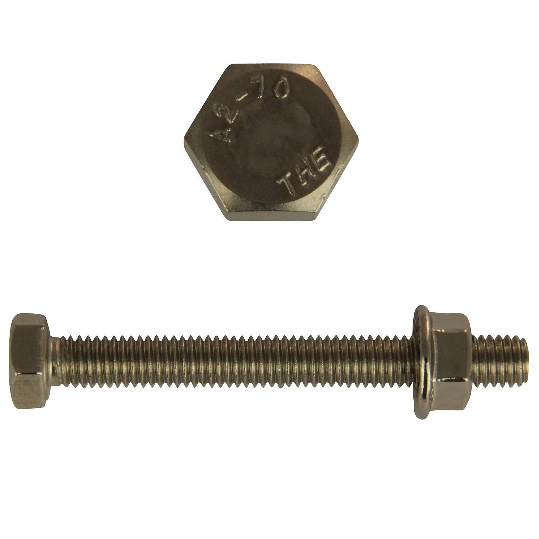 Sechskantschraube Edelstahl DIN 933 Schrauben A2  Maschinenschrauben Muttern A2