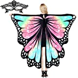Amlion Halloween Costumes for Women Butterfly Wings Shawl Fairy Ladies Costume Accessories