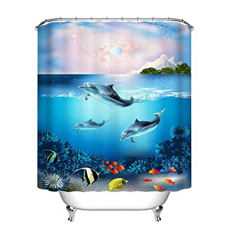 Image Unavailable Not Available For Color LB Custom Sea Life Shower Curtain