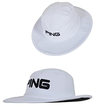 New 2014 PING Boonie Golf Full Brim Sun Bucket Cap Hat COLOR  White SIZE   Small Medium  Amazon.ca  Sports   Outdoors 79a739ca20f