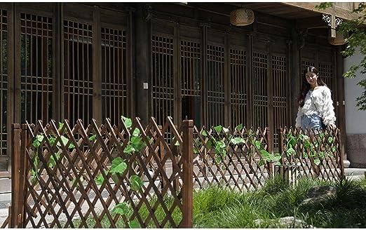 HL-Fence Jard/ín de Madera Enrejado Valla Planta arqueada Creciente Pantalla de Soporte Rejilla Telesc/ópica Barandilla Jard/ín Exterior Cerca de Mascotas Cerca tama/ño : 75 * 160cm