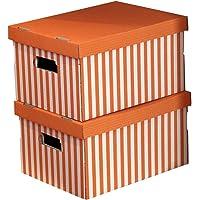 Compactor Set 2 Cajas DE Carton, Naranja