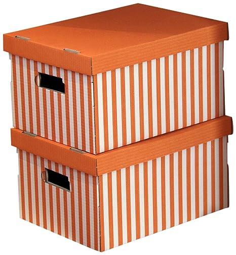 Amazon.com: Caja de almacenamiento para camisa de cartón, 2 ...
