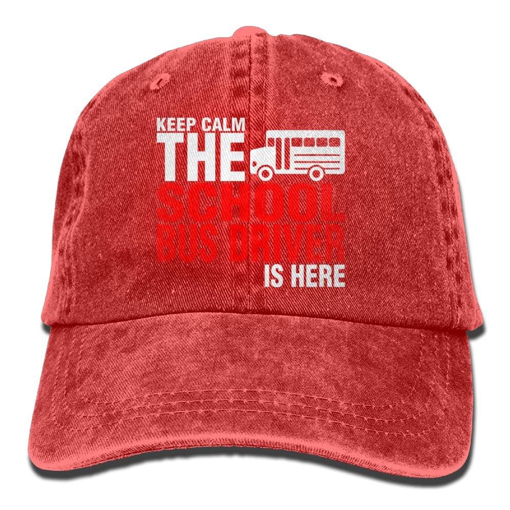 Arsmt School Bus Driver is Here Denim Hat Adjustable Men's Funny Baseball Cap