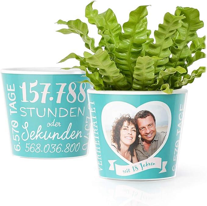 Facepot-Store 18. Hochzeitstag Geschenk - Blumentopf