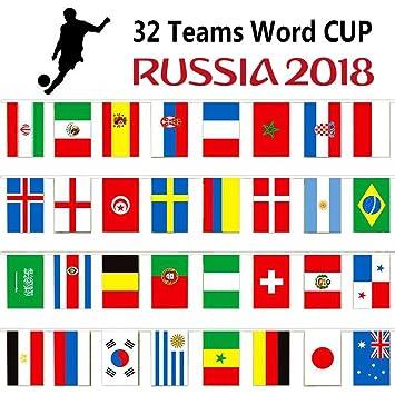 Grassvillage Wimpelkette Fussball Weltmeisterschaft 2018