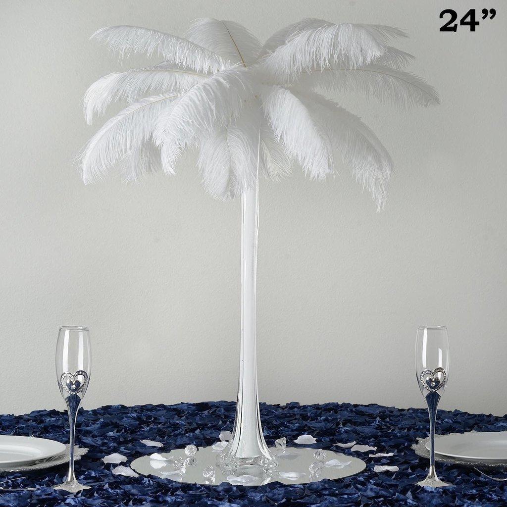 BalsaCircle 6 pcs Wedding Centerpiece Eiffel Tower VASE - 24'' Tall - White