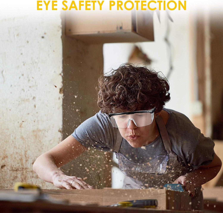 pour Travail//Bricolage//D/écoration NASUM 1 Paire Lunettes de Protection Int/égr/ées AL026 Lunettes Anti-poussi/ère//UV Pliable Transparantes