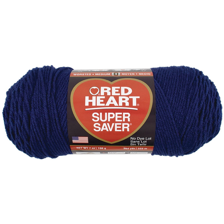 Bulk Buy: Red Heart Super Saver Yarn (3-Pack) Soft Navy E300-387