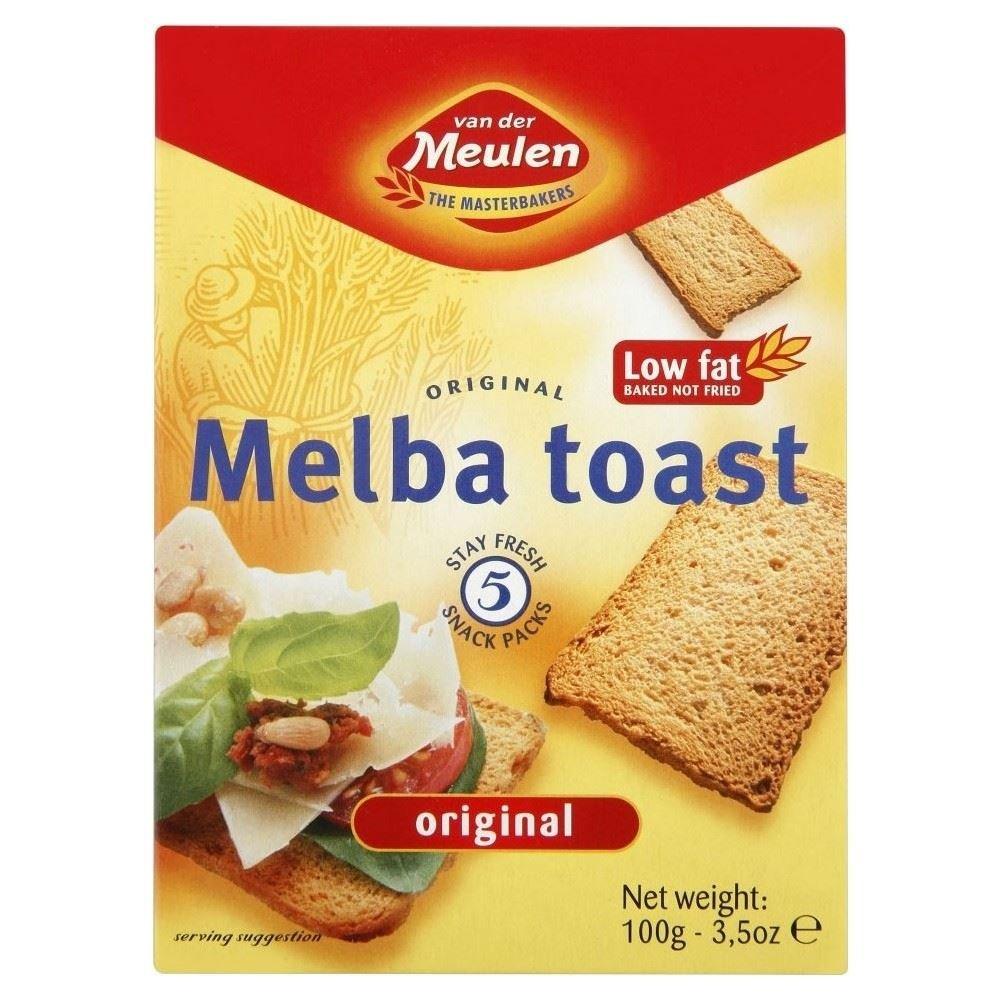 Van der Meulen Original Melba Toast (100g) - Pack of 6 by Van Der Meulen