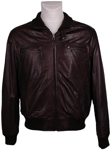 HM Hombre Chaqueta De Piel, Model:, color: negro, tamaño: 50/, - -- nuevo - --, UPE: 329 Euro: Amazon.es: Ropa y accesorios