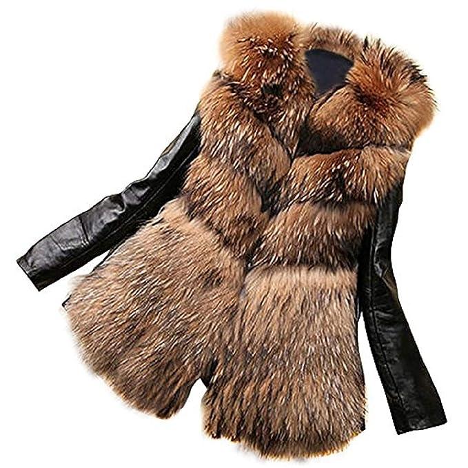 Donna Pelle Cappotti Invernali Elegante Cappotto Di