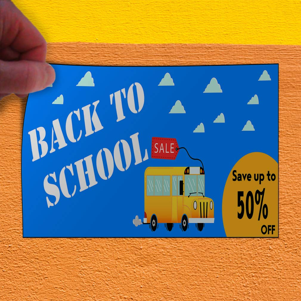 Custom Door Decals Vinyl Stickers Multiple Sizes Back to School Sale School Bus Blue Business Sale Outdoor Luggage /& Bumper Stickers for Cars Blue 54X36Inches Set of 5